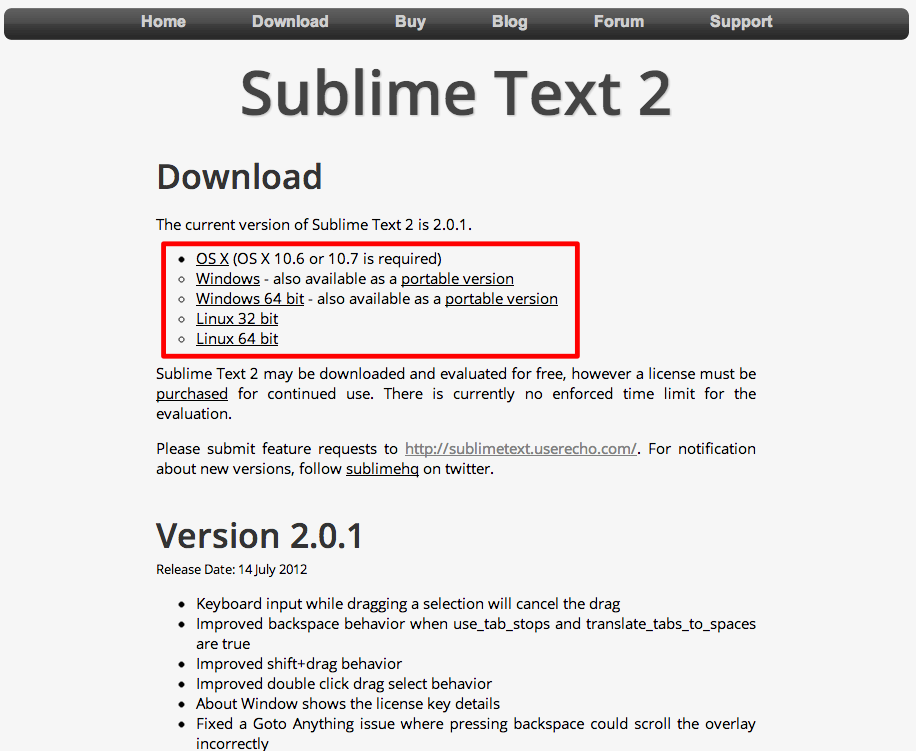 SublimeText Download