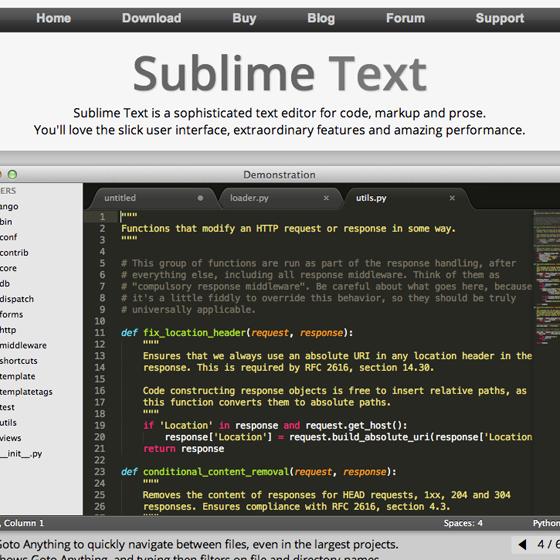SublimeText 2
